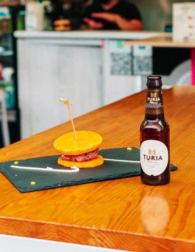 L´atelier du petit français: Hamburguesa queso de Cabra, calabaza y miel